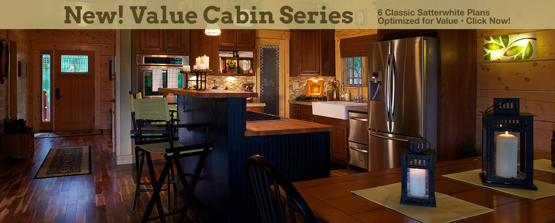 Log Cabin Homes in Spring - Value Series