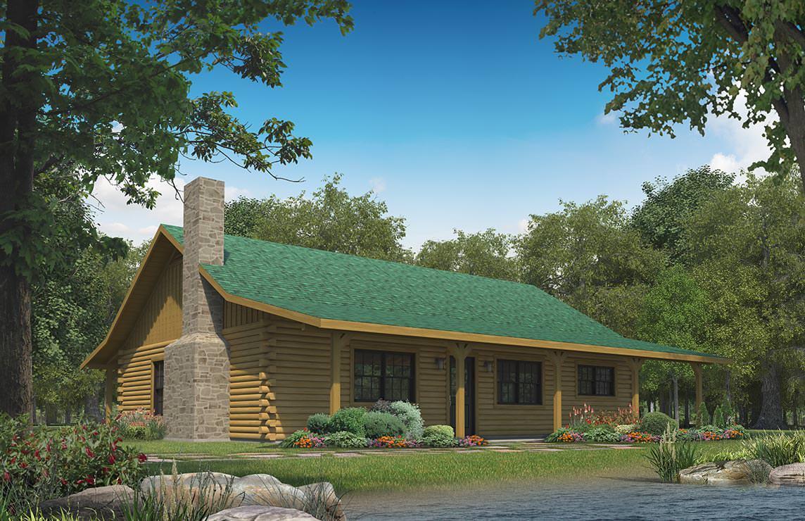 Satterwhite log homes little cypress floor plan for Cypress log home prices