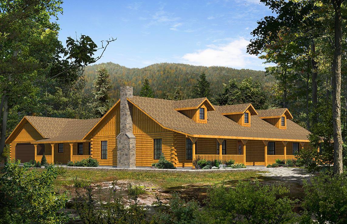 Satterwhite Log Homes Lone Star Floor Plan