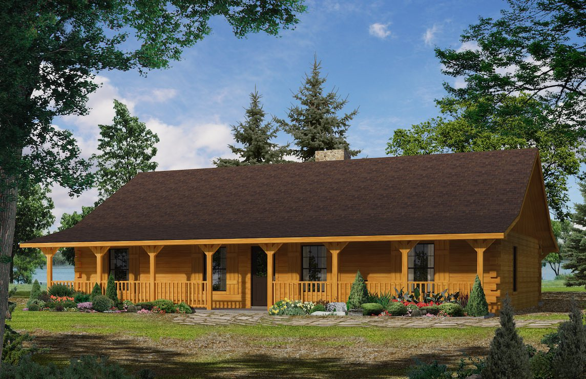 Satterwhite Log Homes Texan Floor Plan